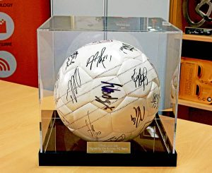 Burnley FC Signed Ball